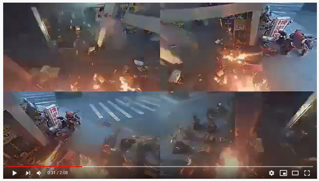 滅火器滅火案例-油類火災實例